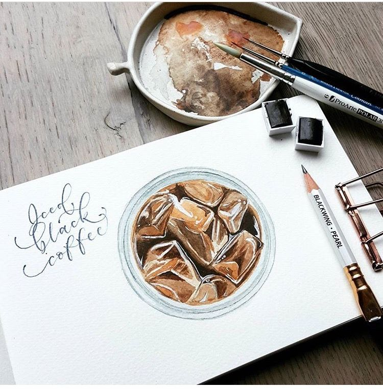 Black coffee instagram posts pencil calligraphy instagram