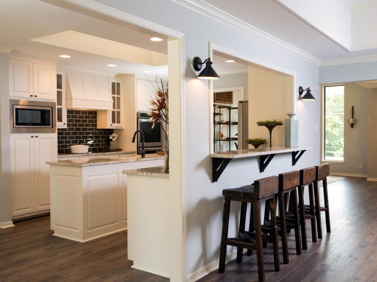 Bar height kitchen island  Fixer Upper A Rush to Renovate an us Ranch Home  Bar Breakfast