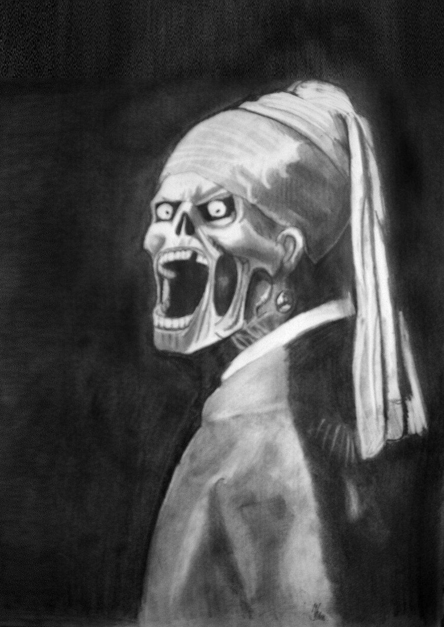 Zombie with a Pearl Earring by PolishPsycho.deviantart.com on @deviantART