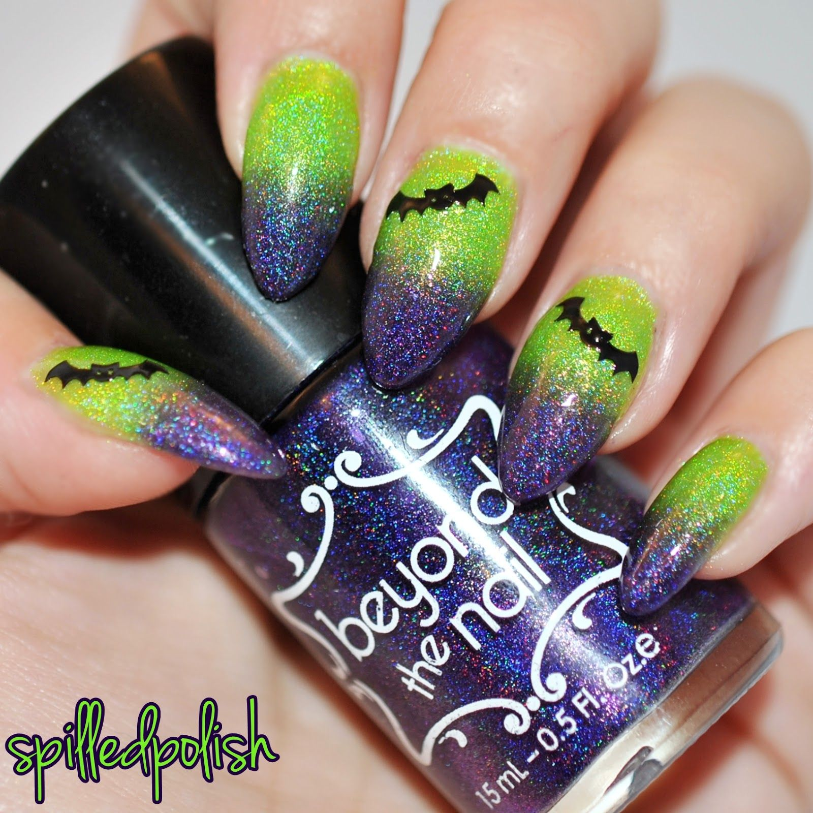 Frankenstein Inspired Gradient | Halloween nails easy ...