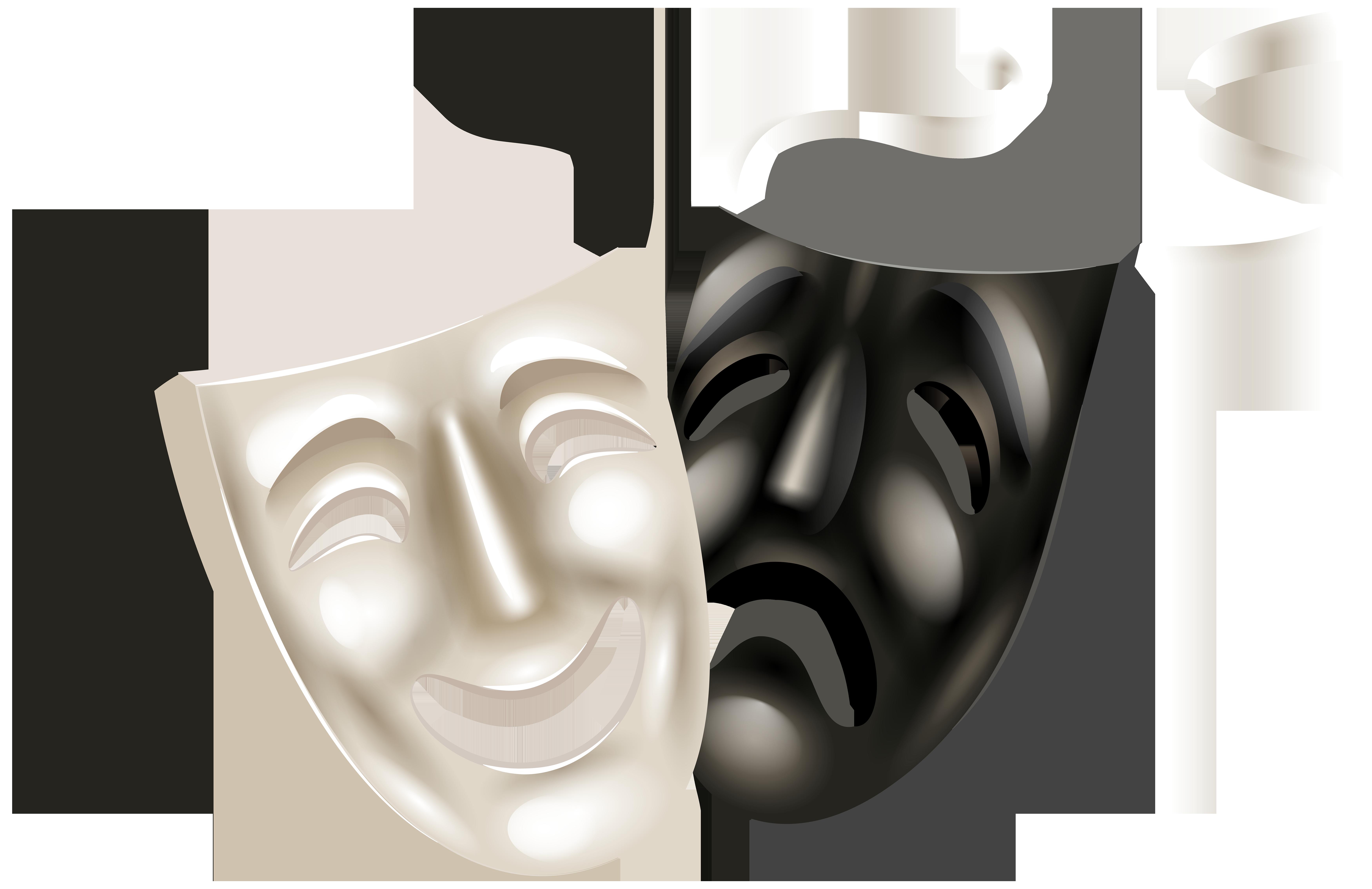 Theater Masks Png Clip Art Png Image Dizajn