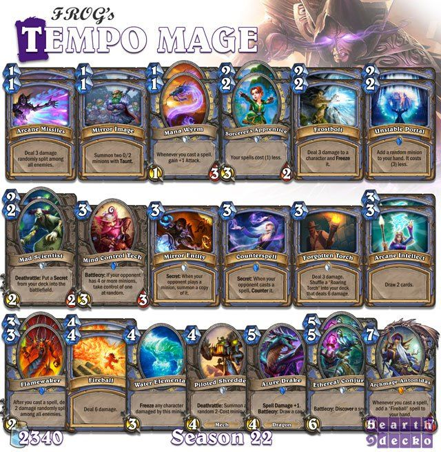 Priest Deck: #Hearthstone Tempo Mage