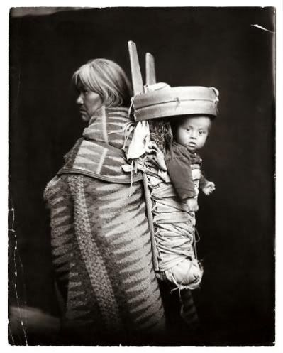 American Indian and child