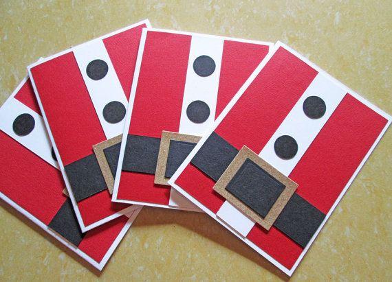 Santa Christmas Cards, Christmas Card Set, Holiday