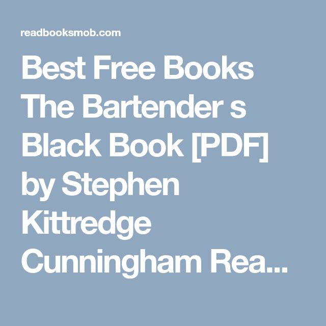 best free books the bartender s black book pdf by stephen