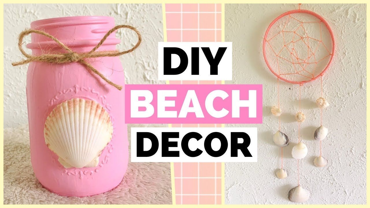 Easy Diy Beach Room Decor Ideas Diy Seashell Jar Diy Seashell