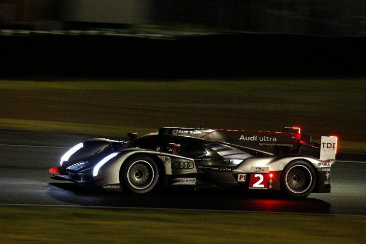 The Audi R18 TDI looked absolutely stunning at night.