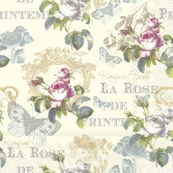 4 Lunch Paper Napkins for Decoupage Craft Vintage Napkins Lavender one