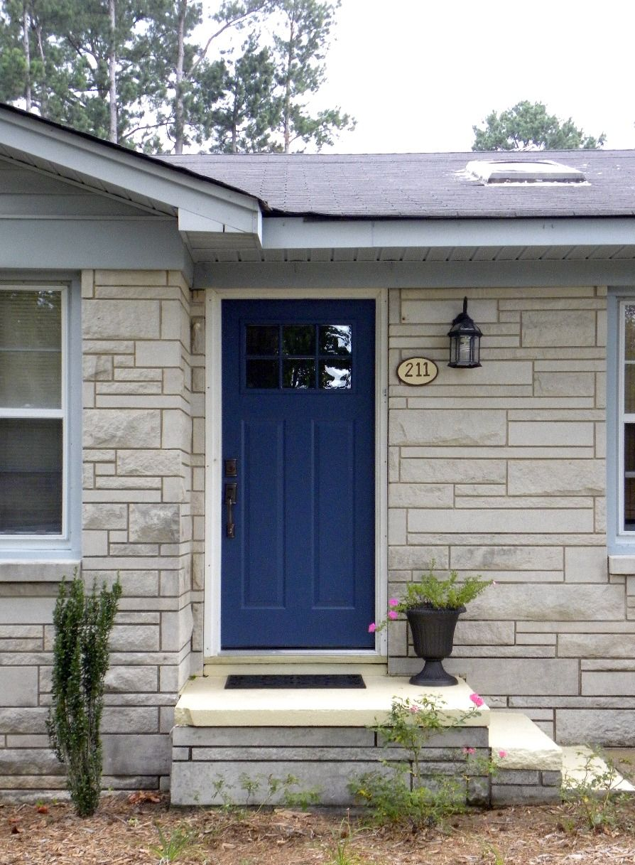 Dark blue front doors - We Have A Winner Newburyport Blue Benjamin Moore Hc 155 Exterior Paint Colorspaint Coloursdoor