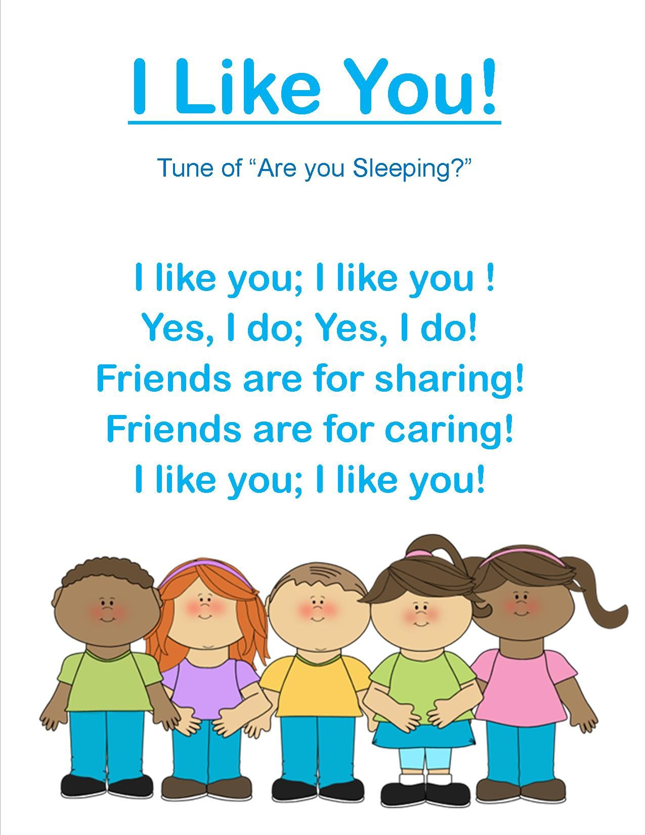 Image result for friendship songs for preschoolers | Young Toddlers ...