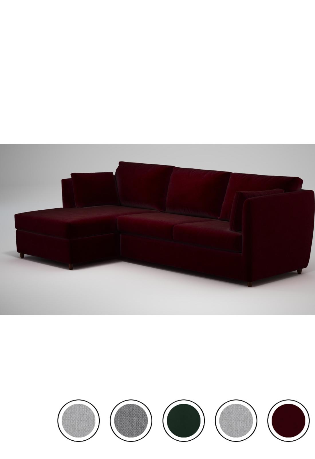 Custom MADE Milner Left Hand Facing Corner Storage Sofa