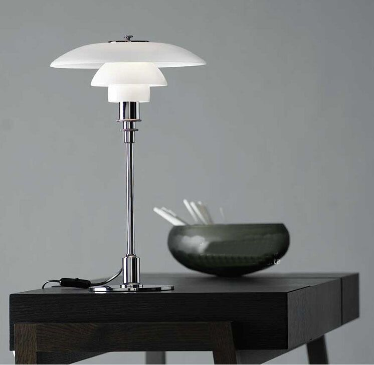 European Louis Poulsen Ph 4 Desk Lamp Bedroom E14 Led Table Reading Lamp Studay Lampara Led Escrit Desk Lamps Bedroom Modern Glass Table Lamps Glass Table Lamp
