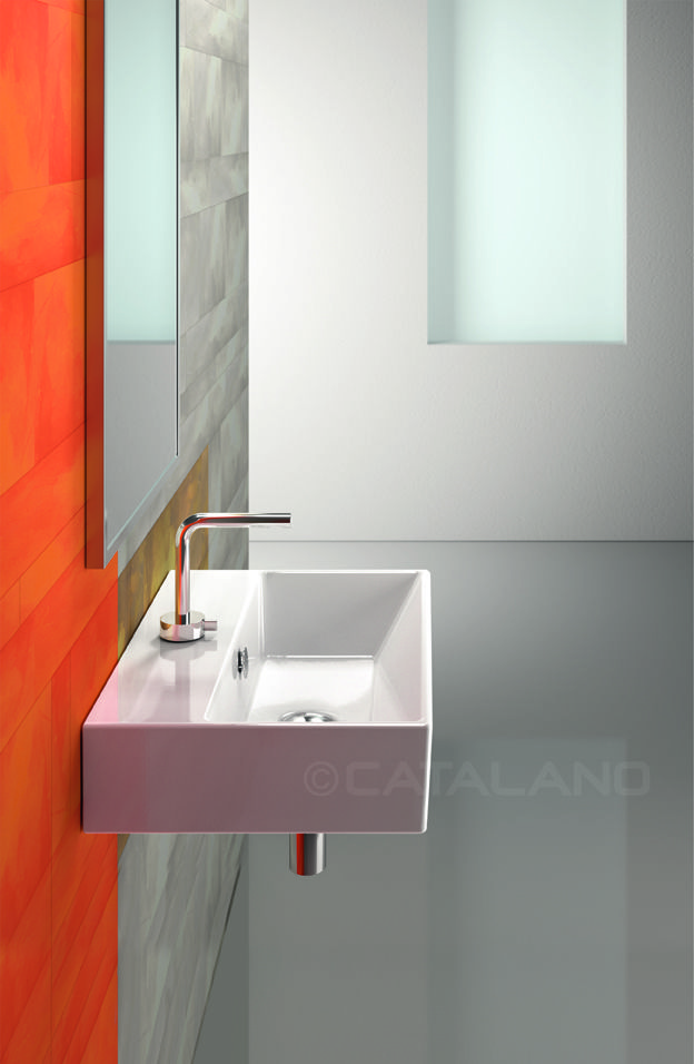 Premium 50_Washbasin with 0, 1 or 3 tapholes. Suitable for wall-hung ...