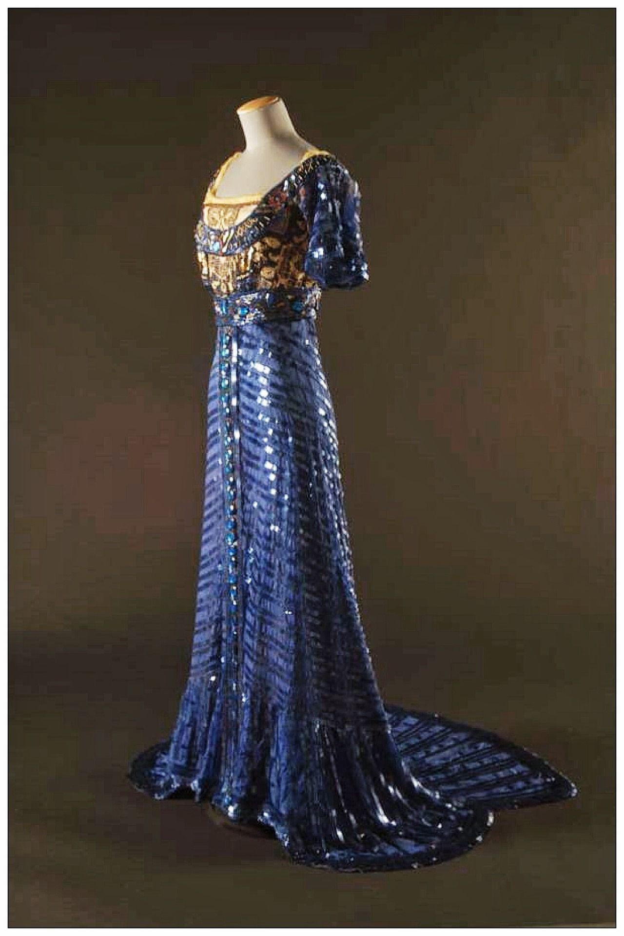 edwardian evening gown | Edwardian | Pinterest | Gowns, Royal blue ...