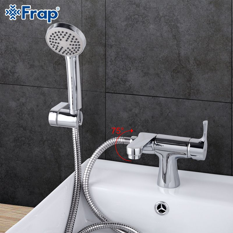 Frap Classic Style Basin Faucet With Hand Shower Head Set Cold And