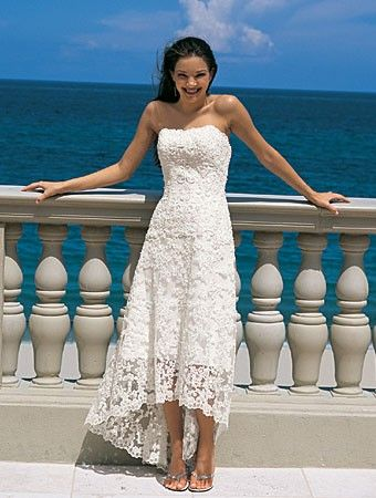 This is a cute Hawaiian themed wedding dress that is just right for ...