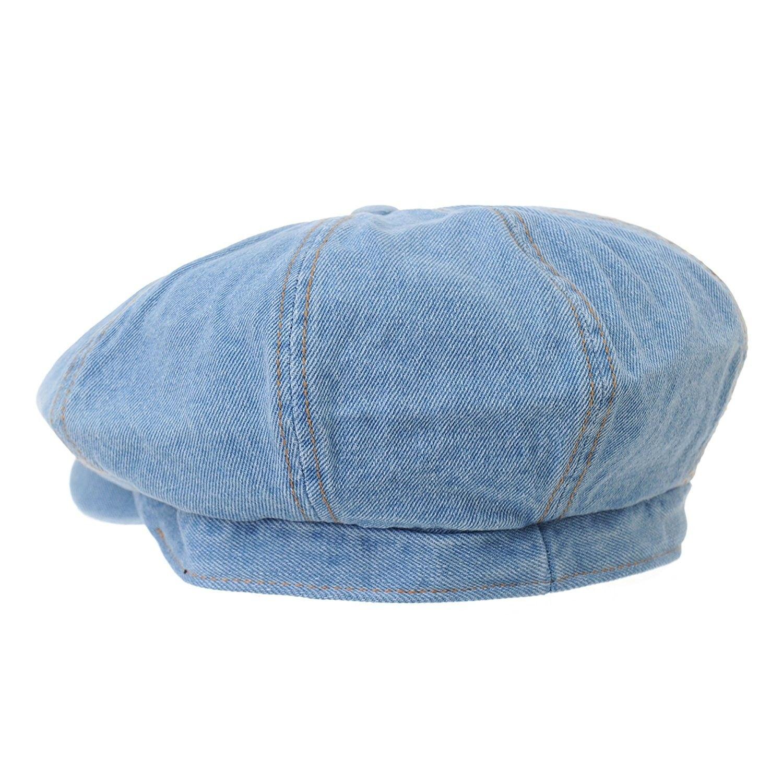 Denim Cotton Newsboy Hat Baker Boy Beret Flat Cap Kr3613 Lightblue Ce17y0y8rcz News Boy Hat Hats For Men Baker Boy