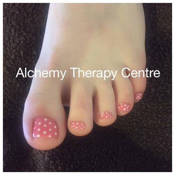 Pink Polka Dot Toes Nails Nailart Beauty Visit Us At Www