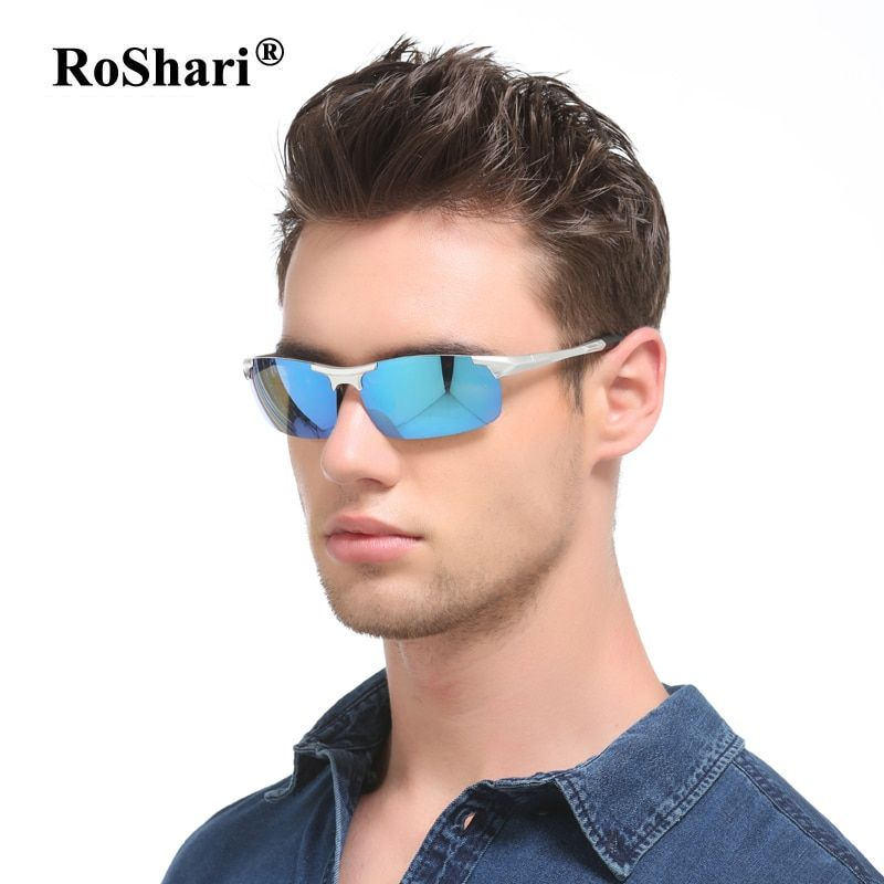 71da786cb058 RoShari vintage Brand Polarized Sunglasses Men Mirror Driving Sun Glasses  for men Travel Male Eyewear gafas de sol hombre 8177 Review