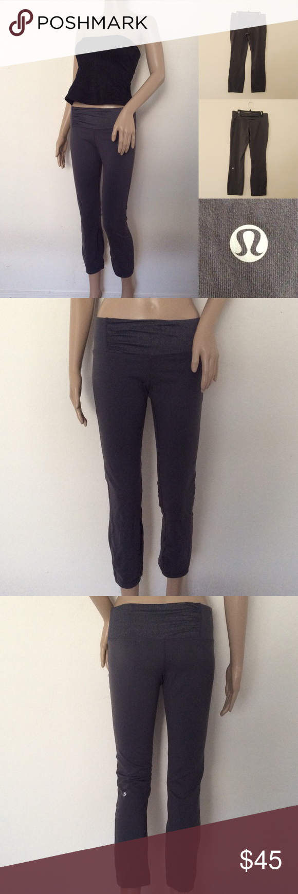 """Rare Lululemon Stance Pant Rare LULULEMON ATHLETICA Heathered Gray Stance Pant. Size 8. Worn 3-4 times. Great condition! Features: Ruching on waistband/Tight, straight leg/medium rise/narrow leg hitting just above the ankle/4-way stretch fabric/gusset crotch/hidden waistband pocket Materials: Luon Actual Measurements (laying flat): • Waist - 29"""" around • Hips - 16"""" • Rise - 10""""  • Length - 33"""" • Inseam - 36"""" • Leg Opening - 6"""" ~❌SWAP❌TRADE ~ ✔️❤️Bundles📦💕 ~✔️Smoke-free/pet-free home…"""