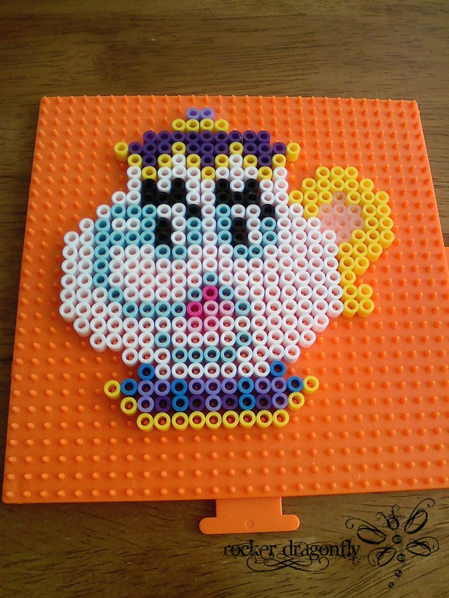 Mrs. Potts The Beauty and the Beast perler beads by RockerDragonfly on deviantart