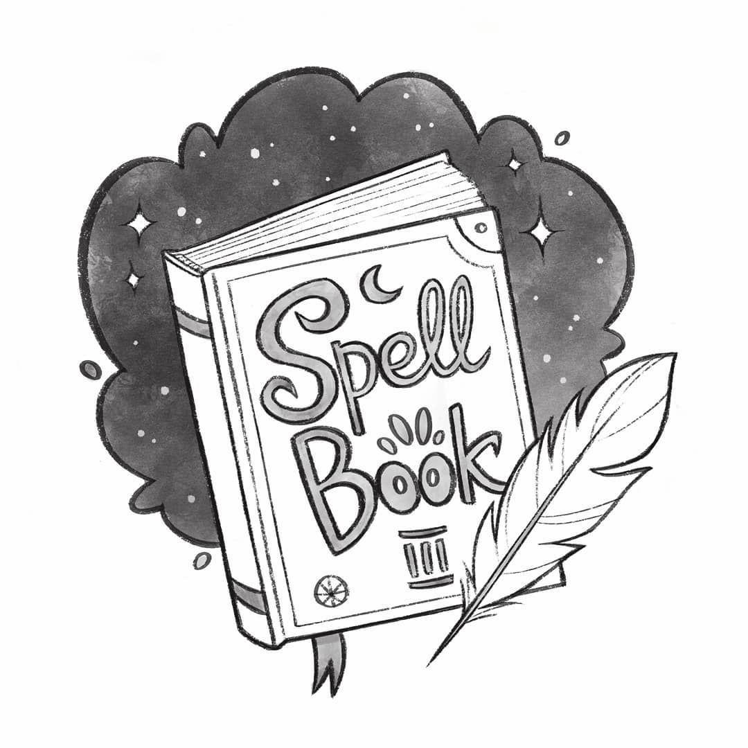 Inktober Spell Book By Margarita Levina Spell Book Witch Spell Book Childrens Illustrations