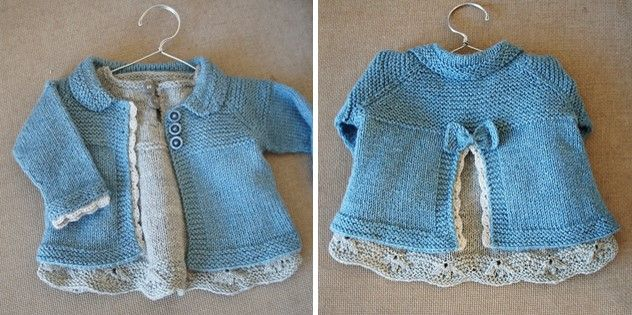 Photo of Charlee Knitted Baby Girl Jacket [FREE Knitting Pattern]