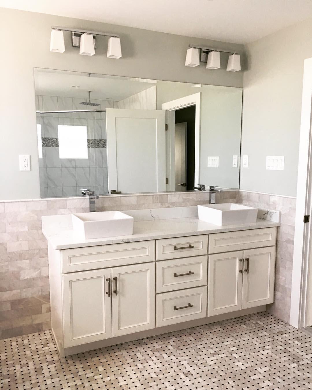 if it wall to wall undreamed wall mounted mirrors look on custom bathroom vanity mirrors id=58475