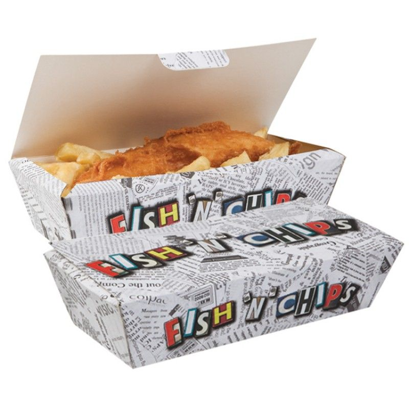 fish and chips serving box fish an 39 chips pinterest. Black Bedroom Furniture Sets. Home Design Ideas