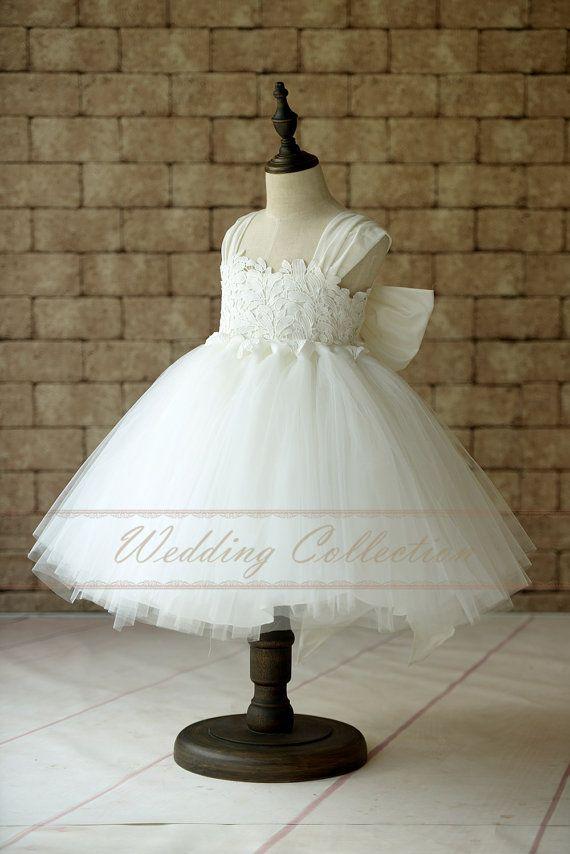 Blumenmädchen Kleid Cap Sleeves Tüll Ball von Weddingcollection ...