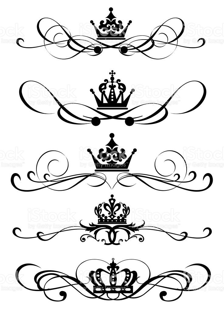 Design Element Vintage Ornaments Vector Crown Tattoo Tattoos Body Art Tattoos
