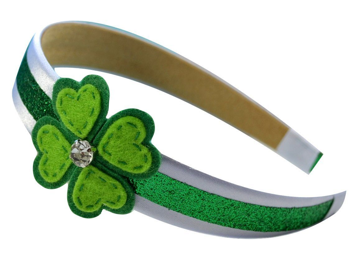 Girls Felt Heart Shamrock St. Patrick's Day Arch Headband By Funny Girl Designs ** Want additional info? Click on the image.