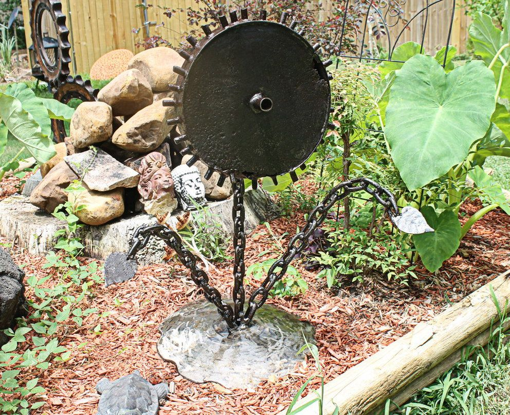 Beau Backyard Recycled Art | Scrap Metal Art Yard Or Garden Sculpture By  RecycledSalvage