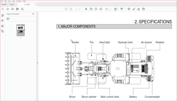 Hyundai Wheel Loader Sl 763 Operator S Manual Hyundai Manual Hydraulic Systems