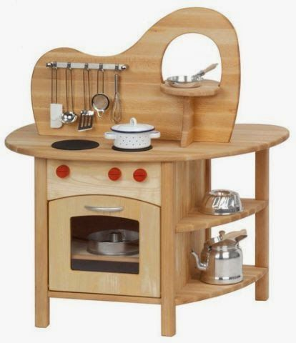 Looking For The Best Wooden Play Kitchen Set Kids Glückskäfer With Top Is Double Sided A Stovetop Oven Sink And More