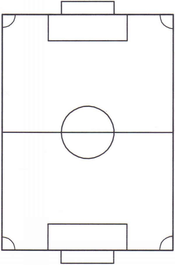 image regarding Soccer Field Printable identified as Printable Football Industry Diagram. Ipadpaperscom - Football Pitch