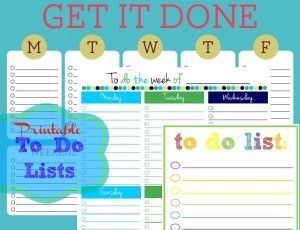 3 Cute & Colorful Free Printable To Do List Templates! Get your days & weeks in order with these printables.