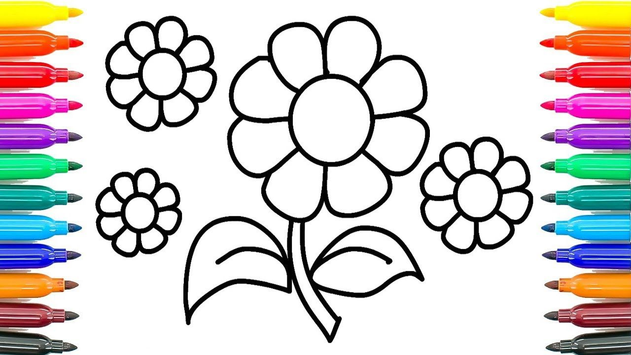 How To Draw Daisy Flower Coloring Pages For Kids How To Paint Daisy