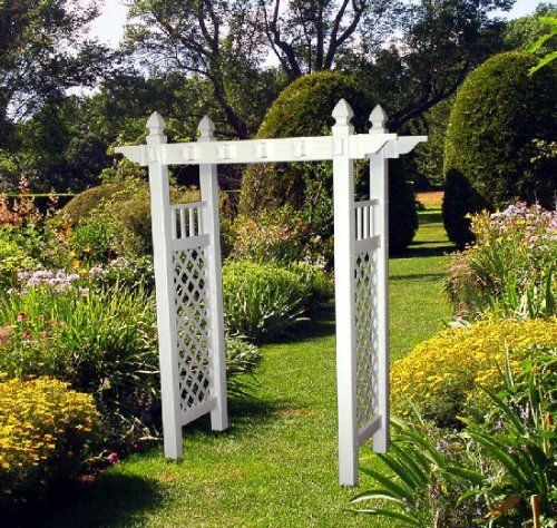 The Arcadian White Vinyl Arbor By In The Garden And More