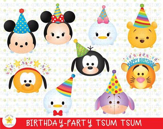 Tsum Tsum Clipart Birthday Clipart Tsum Tsum Graphic