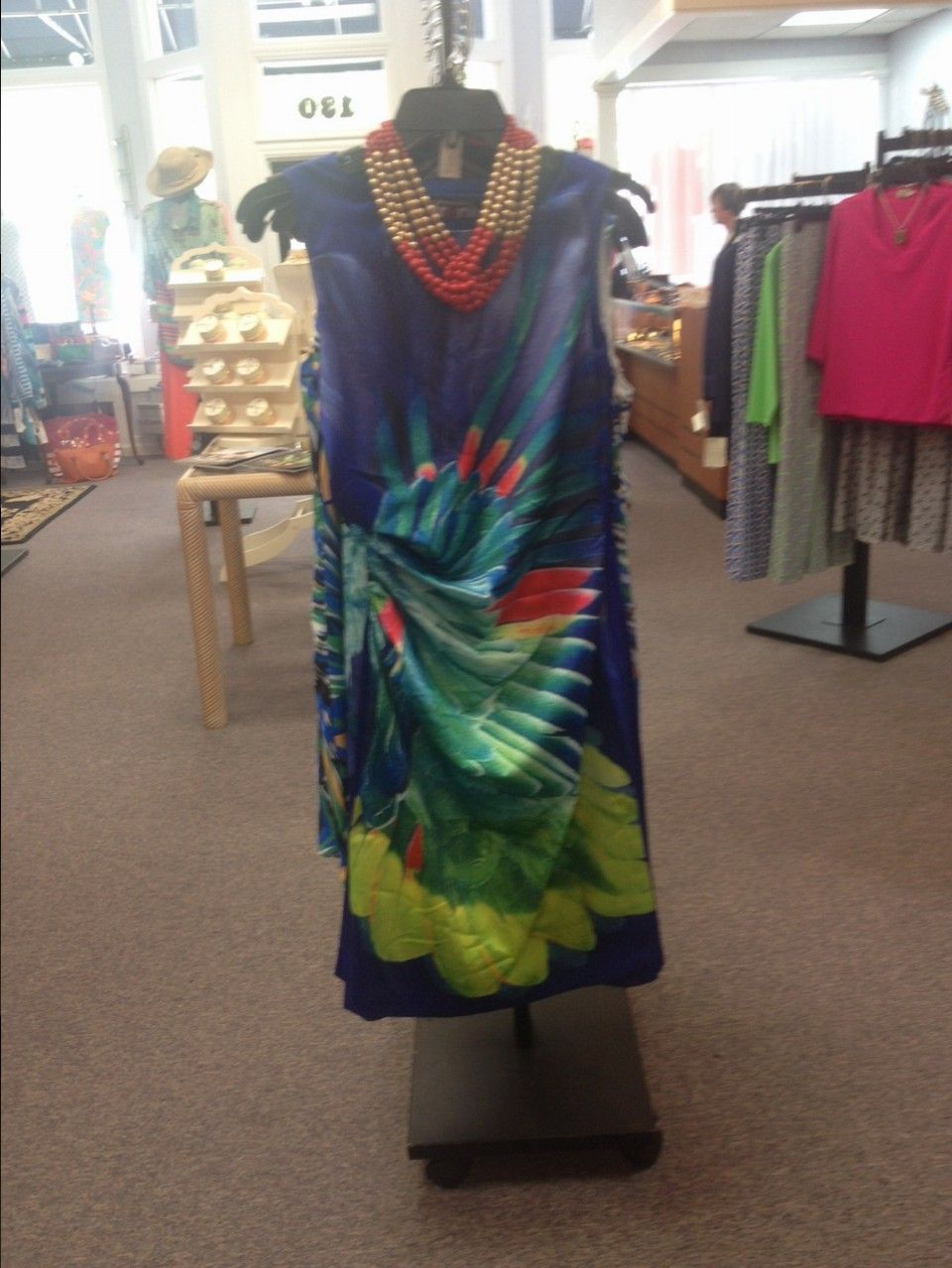 Beautiful Print Side Rushing Dress