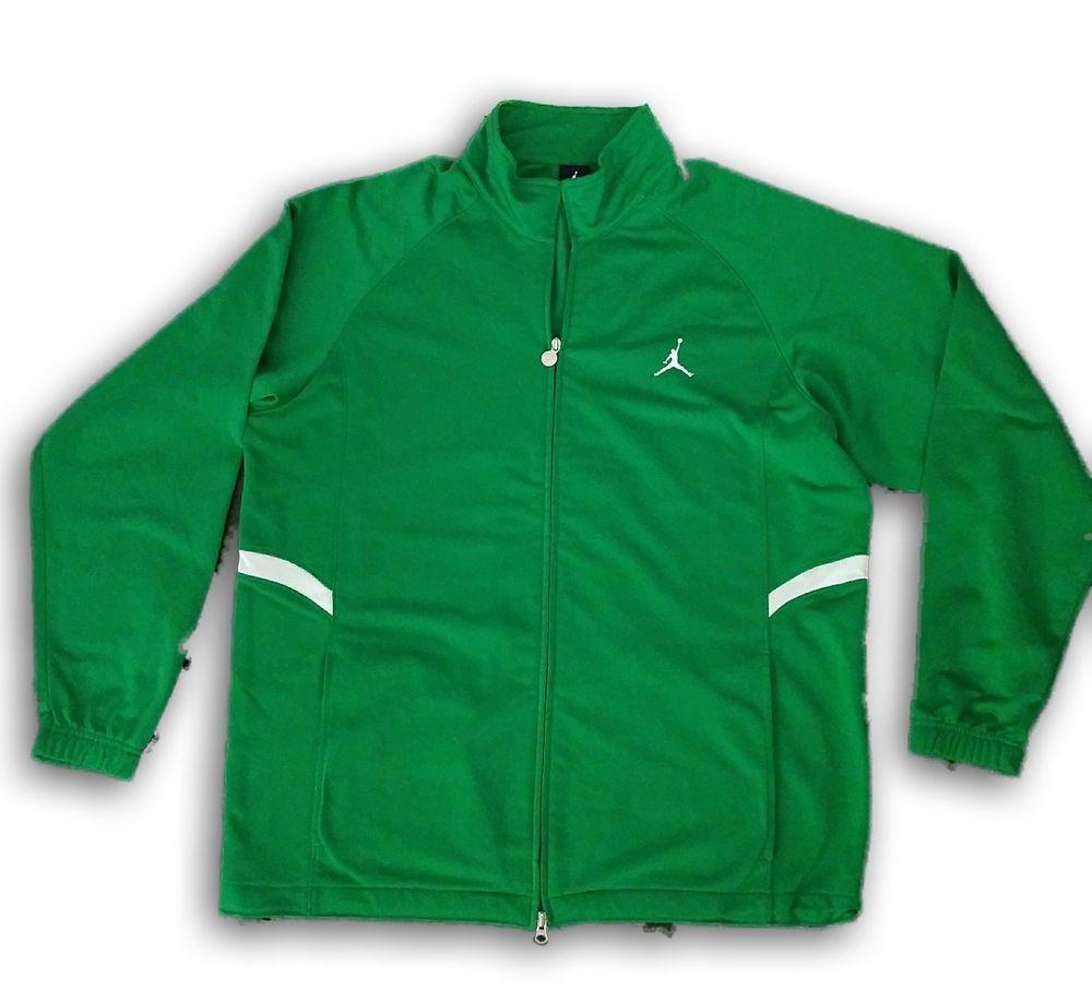 bcee800fe838cd Nike Air Jordan Jacket Men XL Full Zip Track Green Coat