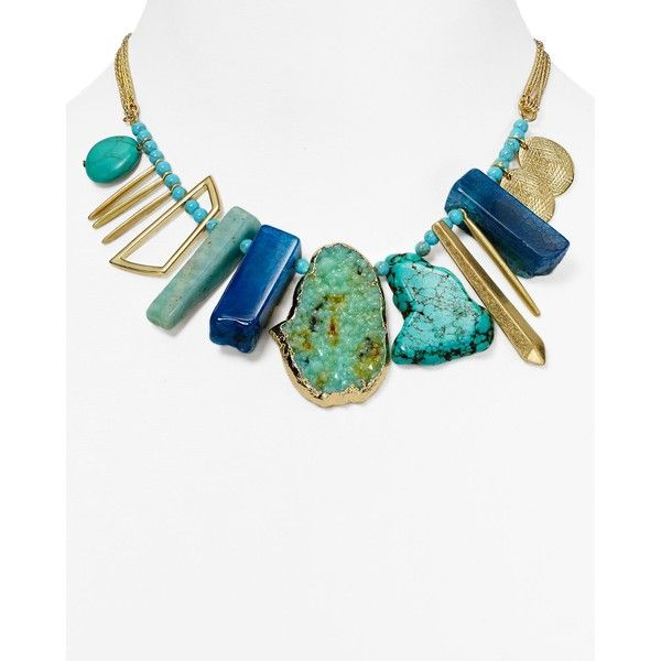 Aqua Diane Beaded Statement Necklace, 16 (€45) ❤ liked on Polyvore featuring jewelry, necklaces, aqua necklace, beading necklaces, bohemian jewelry, strand necklace and beading jewelry