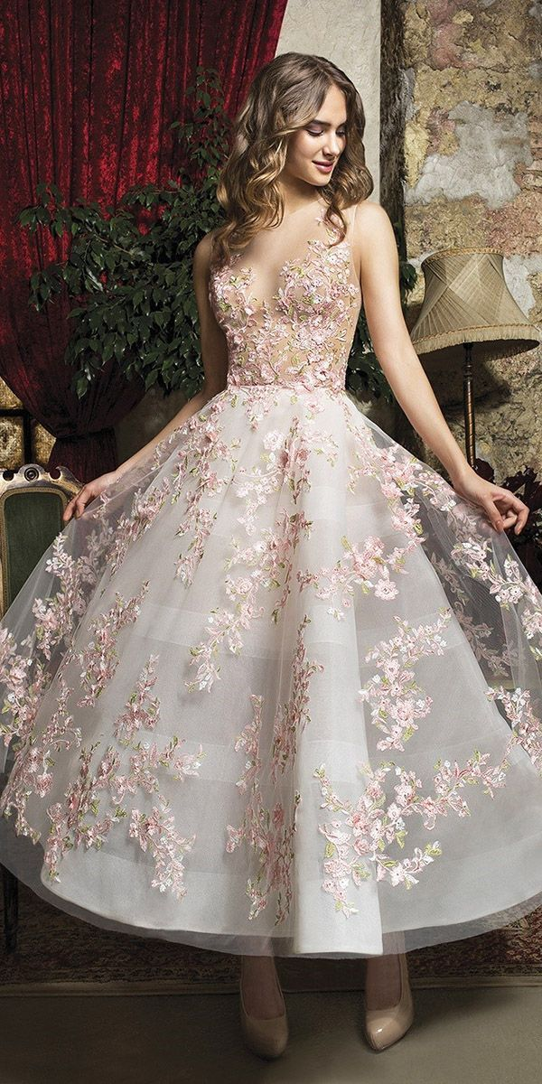 21 Unglaubliche Tee Länge Brautkleider ️ Tee Länge Brautkleider Flora ...