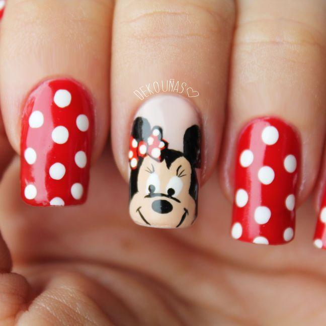 Deko Minnie 1 | infantil | Pinterest | Arte de uñas, Manicuras y Arte