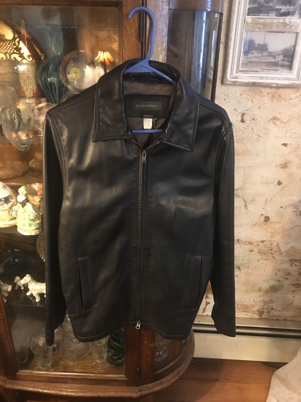 Mens Banana Republic Black Leather Jacket Size S Etsy Leather Jacket Black Leather Jacket Vintage Jacket [ 3000 x 2250 Pixel ]