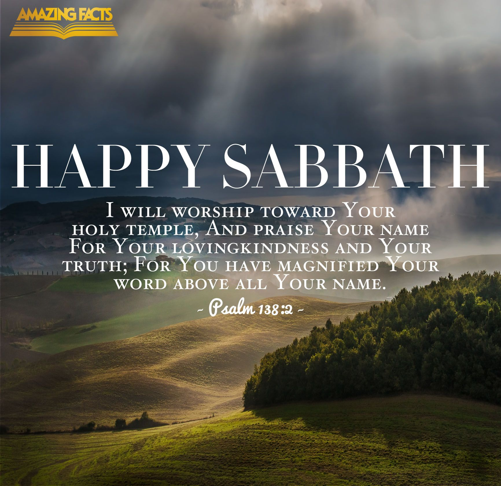 Pin by Amazing Facts on Scripture Pictures | Happy sabbath ...