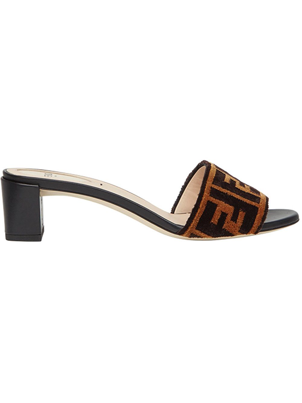 24cbe156 Fendi Sabots fabric sandals | SHOES in 2019 | Fendi, Shoes, Sandals
