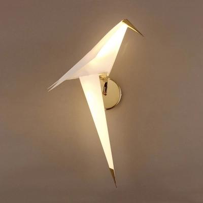 Bird Shape Wall Sconce Stylish Modern Plastic Small Wall Light For