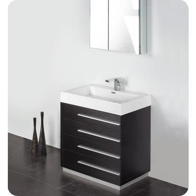 Fresca Livello 30 Inch Black Modern Bathroom Vanity With Medicine Cabinet Fvn8030bw Home